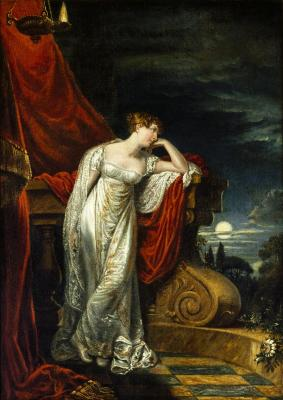A painting of Elizabeth O'Neill, Irish actress who later became a  baroness, as Juliet