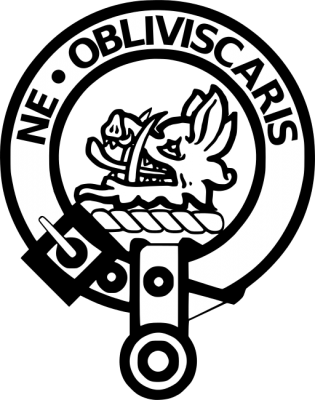 """A picture of Clan Campbell's family crest badge which the Latin phrase """"Ne Obliviscaris"""" meaning """"Do Not Forget"""" is seen on it"""