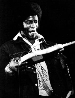 A picture of Eddie C. Campbell, American musician and blues guitarist and singer.
