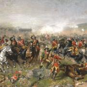 Depiction of the Battle of Aughrim (1691) by John Mulvany.