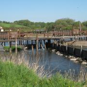 Eel nets at Portna Locks, on River Bann