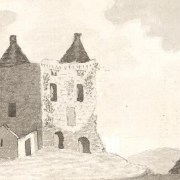 Dunmore Castle by William Ousley, 1782