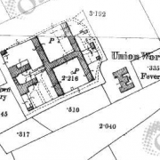 Castlebar Workhouse on Historic 25 inch map (1897-1913)