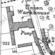 Killala Workhouse on Historic 25 inch map (1897-1913)