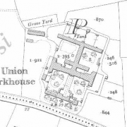 Carrick-on-Suir Workhouse on Historic 25 inch map (1897-1913)
