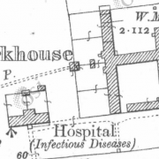 Donegal Workhouse on Historic 25 inch map (1897-1913)