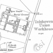Inishowen Workhouse on Historic 25 inch map (1897-1913)