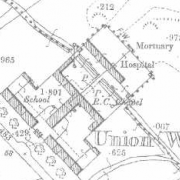 Schull Workhouse on Historic 25 inch map (1897-1913)