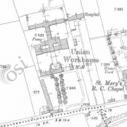 Listowel Workhouse on Historic 25 inch map (1897-1913)