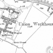 Abbeyleix Workhouse on Historic 25 inch map (1897-1913)