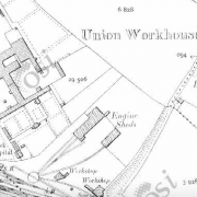 Kilkenny Workhouse on Historic 25 inch map (1897-1913)