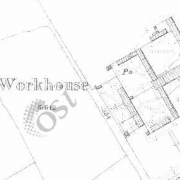 Urlingford Workhouse on Historic 25 inch map (1897-1913)