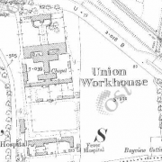 Drogheda Workhouse on Historic 25 inch map (1897-1913)