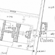 Oldcastle Workhouse on Historic 25 inch map (1897-1913)