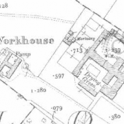 Monaghan Workhouse on Historic 25 inch map (1897-1913)