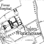 Newtown Limavady Workhouse on 1907 OS map