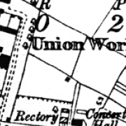 Lowtherstown Workhouse on 1907 OS map
