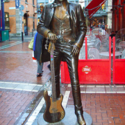 Statue of Phil Lynott in Temple Bar