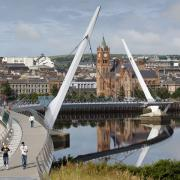 Peace Bridge, Derry City, Northern Ireland