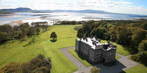 Lissadell House with Benbulbin n the distance