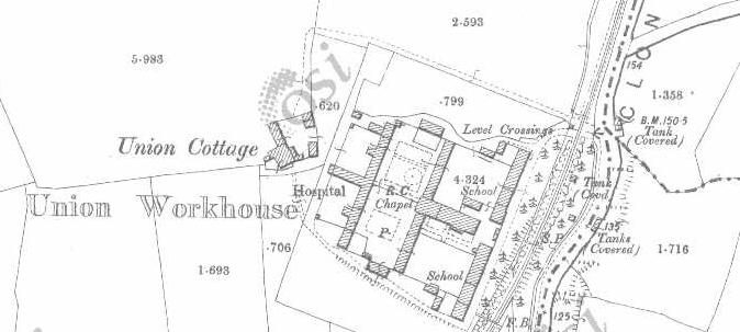 Clonakilty Workhouse on Historic 25 inch map (1897-1913)