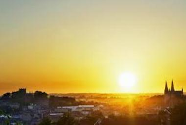 The setting sun over Armagh City (Courtesy of Ireland.com)